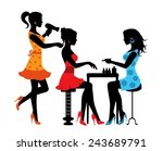 woman in a beauty salon with a... | Shutterstock .eps vector #243689791