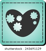 icon of the heart | Shutterstock .eps vector #243691129
