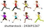 faceless kids running on a... | Shutterstock .eps vector #243691267