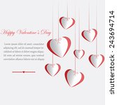 white card for valentine's day... | Shutterstock .eps vector #243694714