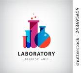 vector laboratory  chemical ... | Shutterstock .eps vector #243695659