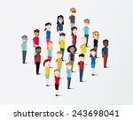 social groups of people icon... | Shutterstock .eps vector #243698041