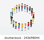 social groups of people icon... | Shutterstock .eps vector #243698044