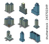 vector isometric flat style... | Shutterstock .eps vector #243702349