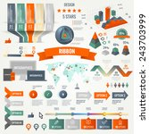 infographics set with options.... | Shutterstock .eps vector #243703999
