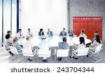 business people team teamwork... | Shutterstock . vector #243704344