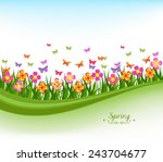natural banners with flowes and ... | Shutterstock .eps vector #243704677