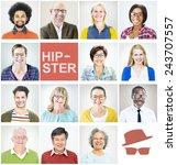 individuality portrait profile... | Shutterstock . vector #243707557