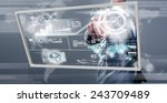 businessman working on digital... | Shutterstock . vector #243709489