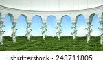 column arc nature background   Shutterstock . vector #243711805