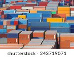 aerial view of intermodal... | Shutterstock . vector #243719071