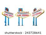 welcome to las vegas neon light ... | Shutterstock . vector #243728641