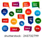 big set of modern colorful sale ... | Shutterstock .eps vector #243732799