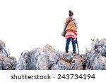 Woman Photographer Climbing The ...