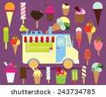 ice cream van | Shutterstock .eps vector #243734785