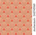 seamless pattern of red art... | Shutterstock .eps vector #243745969