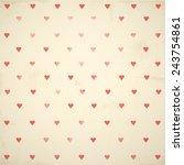 happy valentine's day background | Shutterstock .eps vector #243754861