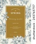 Vintage Vertical Spring Card....