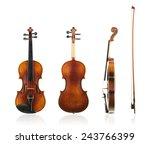 Old violin front  back and side ...