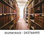 Close Up Of A Bookshelf In...