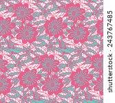 seamless pattern    flower... | Shutterstock . vector #243767485