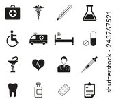 medical vector icon set | Shutterstock .eps vector #243767521