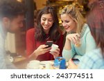 group of friends in caf      ... | Shutterstock . vector #243774511
