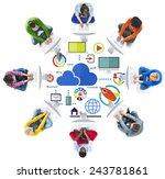 big data sharing online global... | Shutterstock . vector #243781861
