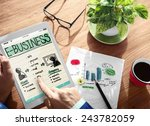 businessman planning e business ... | Shutterstock . vector #243782059