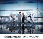 business people working... | Shutterstock . vector #243790099