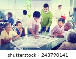 group of business people in the ... | Shutterstock . vector #243790141