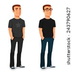 friendly young guy in casual... | Shutterstock .eps vector #243790627