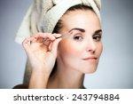beauty fresh model girl shaping ...   Shutterstock . vector #243794884