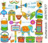 illustration of kitsch art of... | Shutterstock .eps vector #243797377