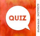 quiz vector icon | Shutterstock .eps vector #243799579
