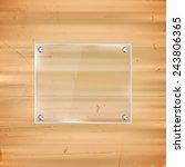 rectangular glass frame on...   Shutterstock .eps vector #243806365