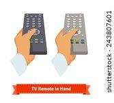 retro remote control in hand....