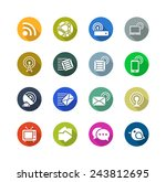 communication flat icons | Shutterstock . vector #243812695