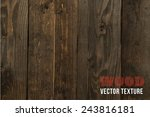 vector wood texture. background ... | Shutterstock .eps vector #243816181