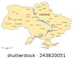 ukraine map | Shutterstock .eps vector #243820051