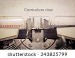 curriculum vitae | Shutterstock . vector #243825799