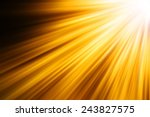 Abstract Light Gold Speed Motion