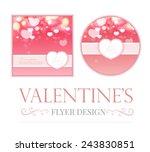 shining bokeh hearts valentine... | Shutterstock .eps vector #243830851