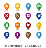 collection of navigation icons  ... | Shutterstock .eps vector #243838729