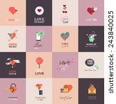 happy valentines day cards.... | Shutterstock .eps vector #243840025