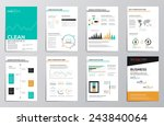 business infographics elements... | Shutterstock .eps vector #243840064