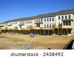 TownHome Construction - stock photo