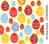 seamless pattern with painted... | Shutterstock .eps vector #243858061