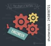 engineer  industry design on... | Shutterstock .eps vector #243858721
