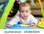 little adorable newborn infant... | Shutterstock . vector #243864064